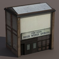 Store House Low Poly 3d Model
