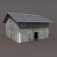 old barn 3d 3ds