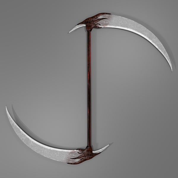 3d model double scythe