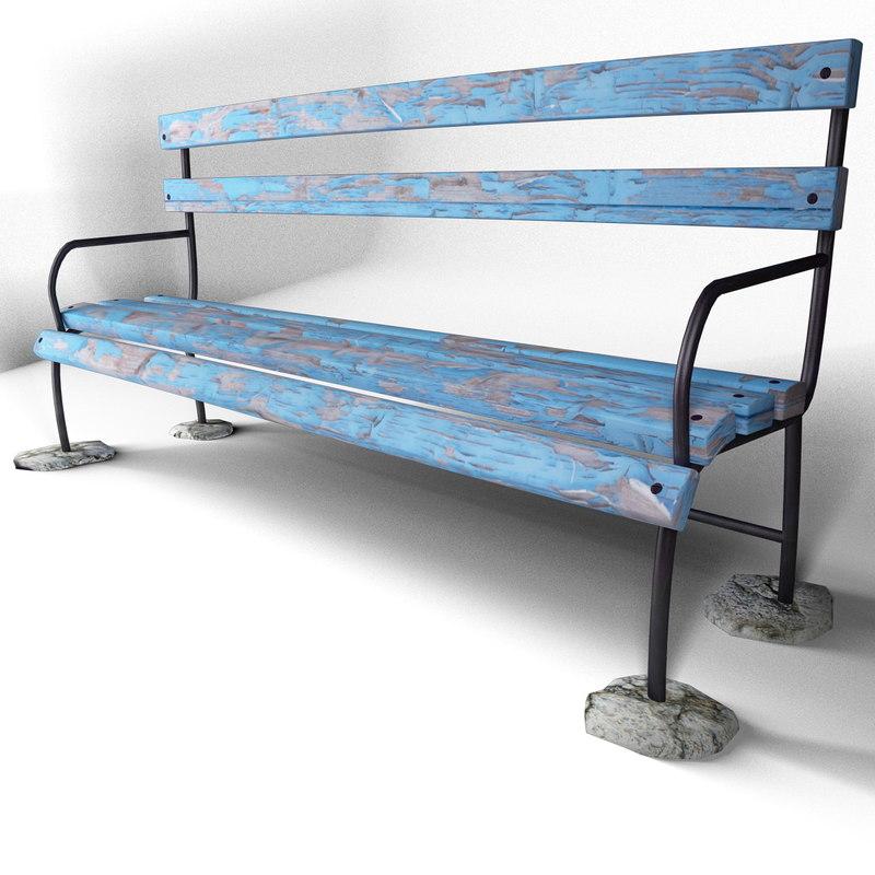 bench 6 1 3d model