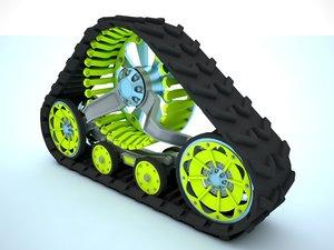 3d track crawler