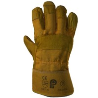 protective gloves yellow suede