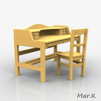 3ds max wooden office table