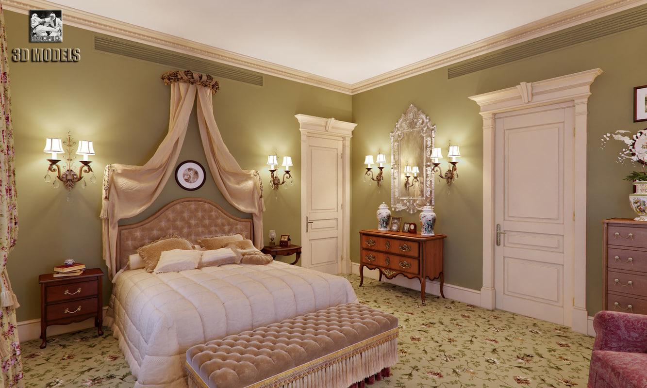 classic bedroom interior max