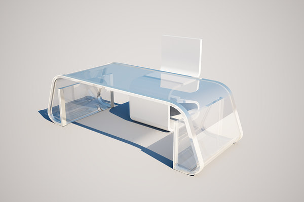 free glass table 3d model