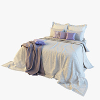 3d model of bedclothes bed