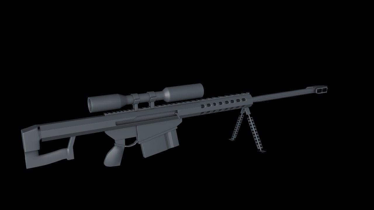 barret m82 3d c4d