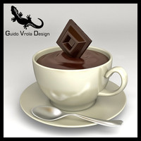 chocolate cup 3d model