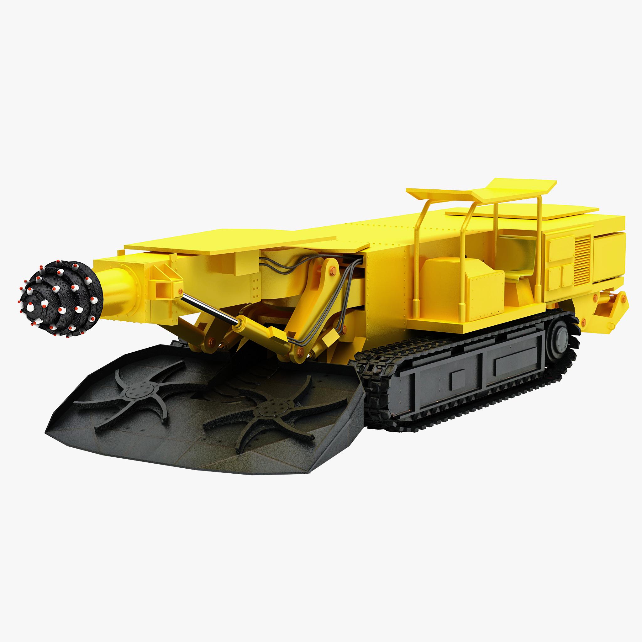 3d max coal mining drill rig