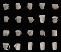 Coffee and tea cups 20 pcs