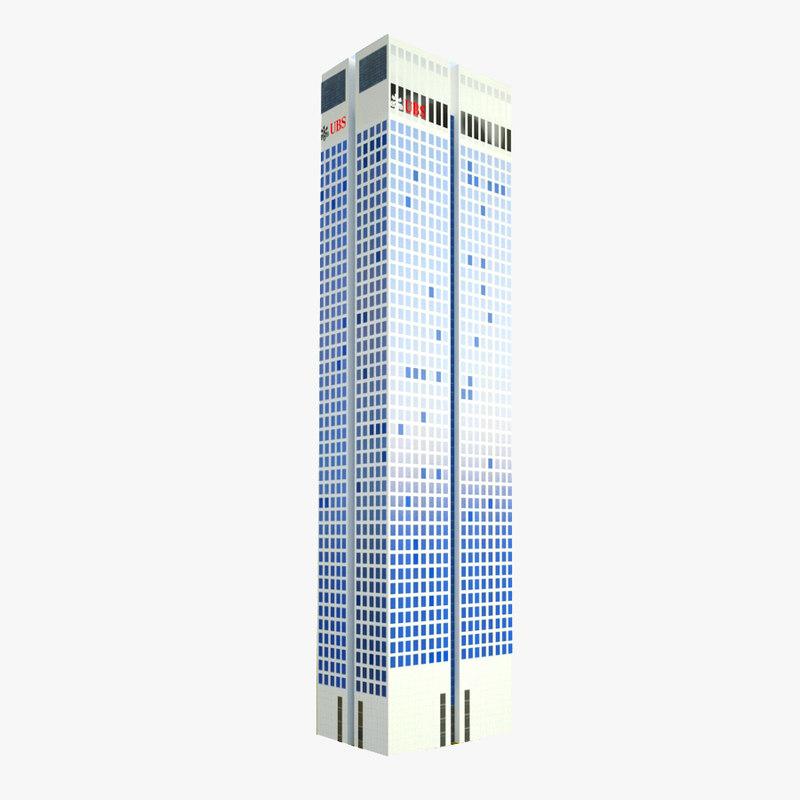 skyscraper opernturm 3d model