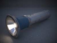 vintage flashlight 3d max