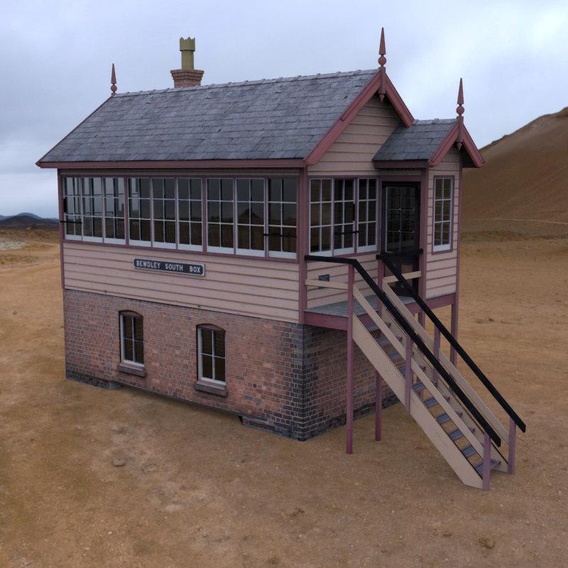 gwr signalbox railway 3d model