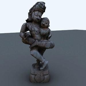 indian figure interiors 3d 3ds