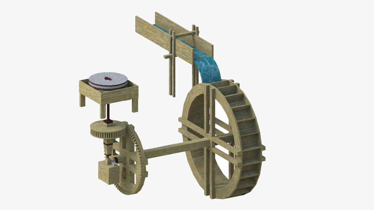 3ds max educational water machinery