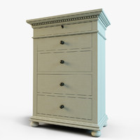 max st james narrow 5-drawer