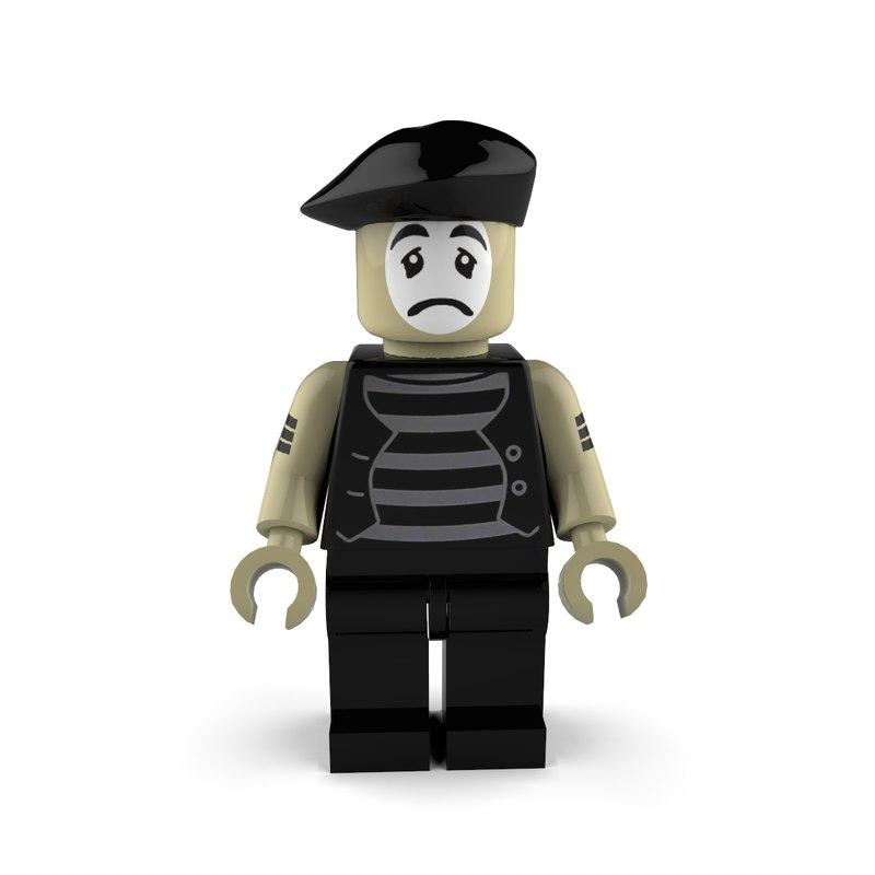 3d mime sad model
