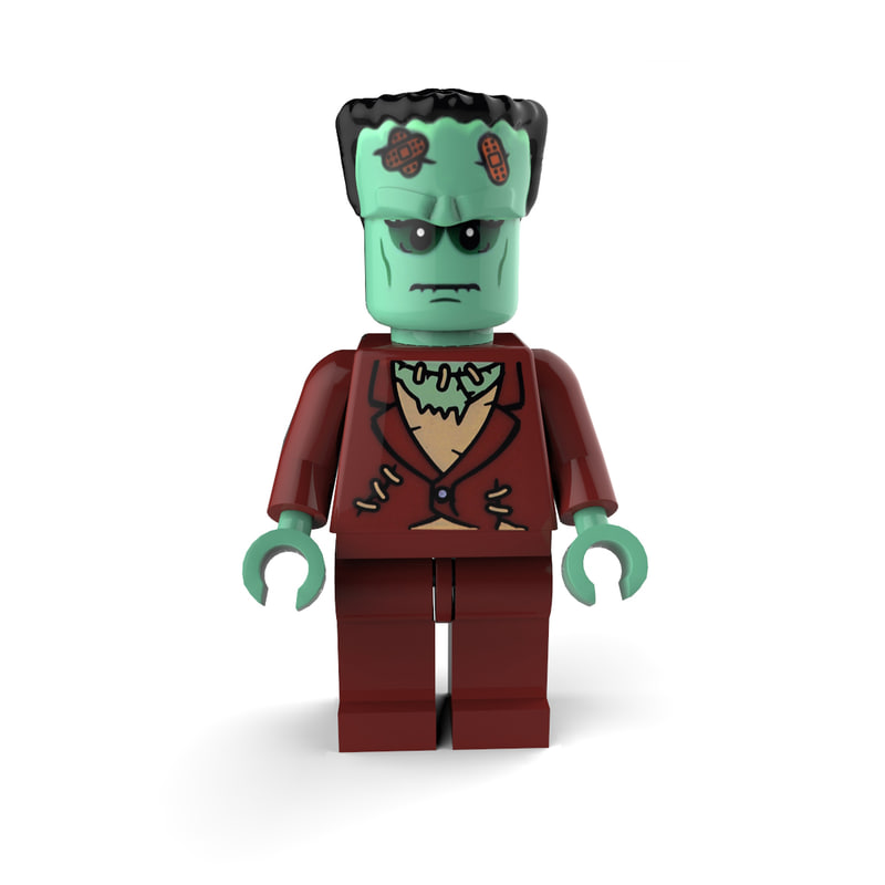 3d frankenstein lego model