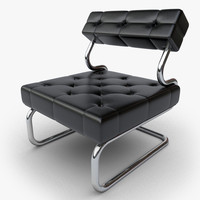 max design chair black leather