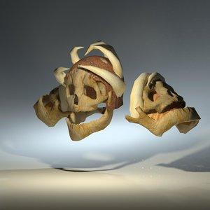 3d model skull helmet