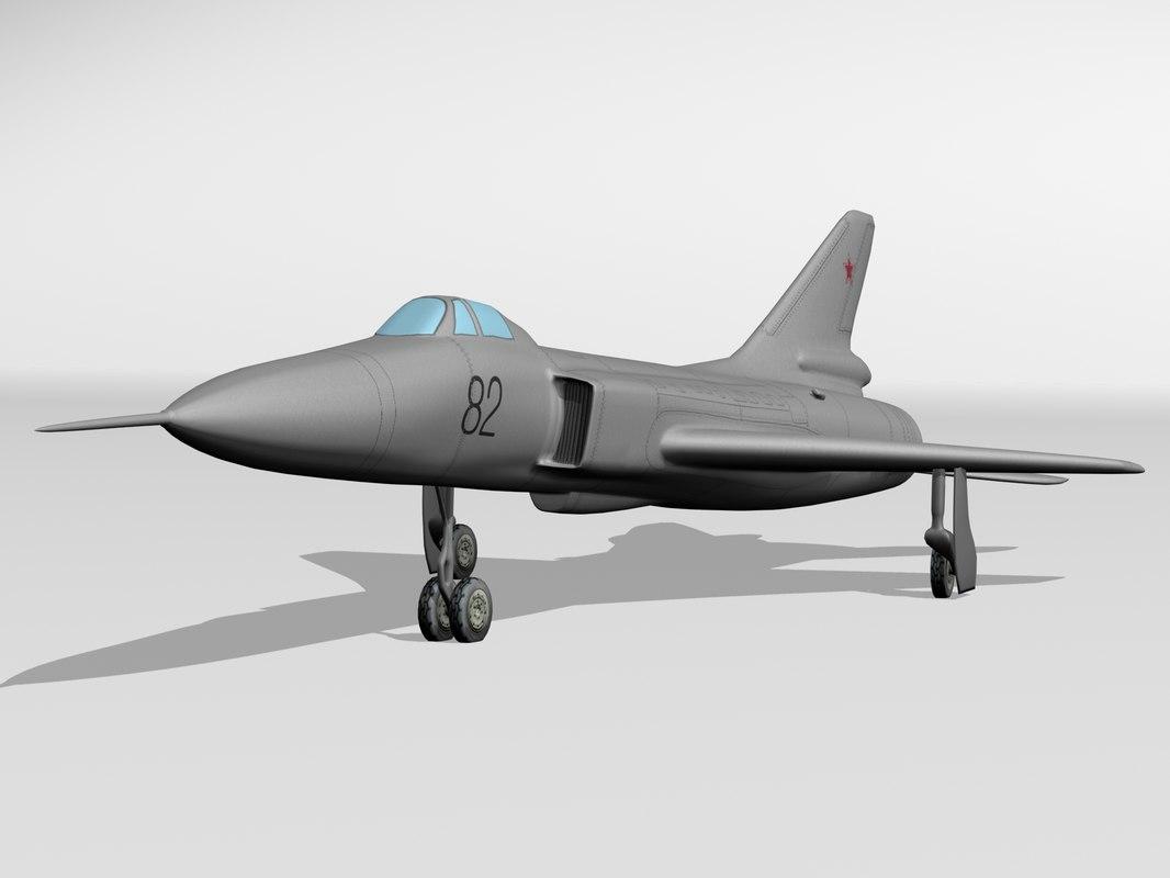3d model su-15 fighter