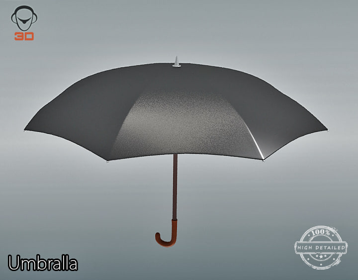 3d model umbrella