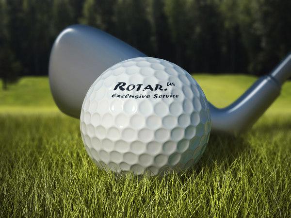 golf scene 3d model