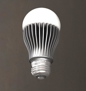 3dsmax led light bulb