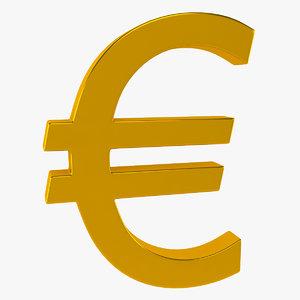 monetary symbol 3d model