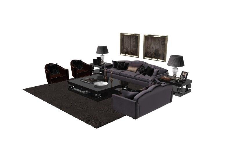 living room furniture 3d max