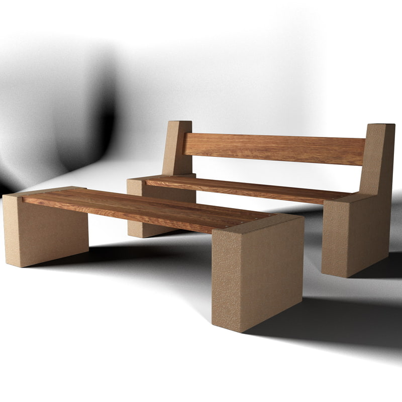 3ds max bench seat