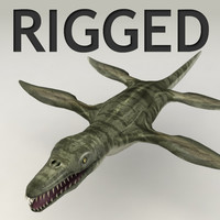 Pliosaurus lowpoly rigged