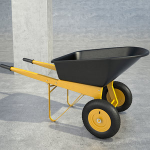 builders wheelbarrow 3d model