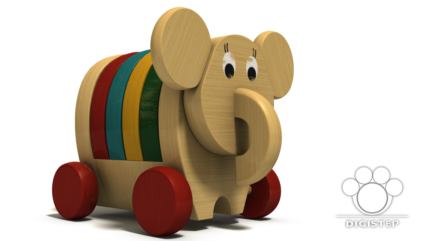 unique wooden toy elephant max