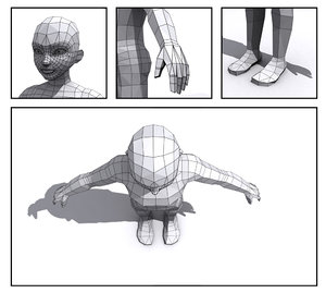generic boy base mesh 3d model