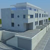 3d building house model