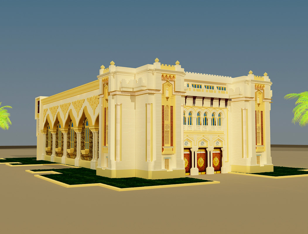islamic building 3d max