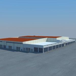 factory building 3d model