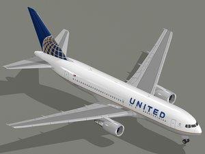 3d boeing 767-200 er airliner model