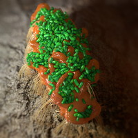 3d model chunk covered bacteria