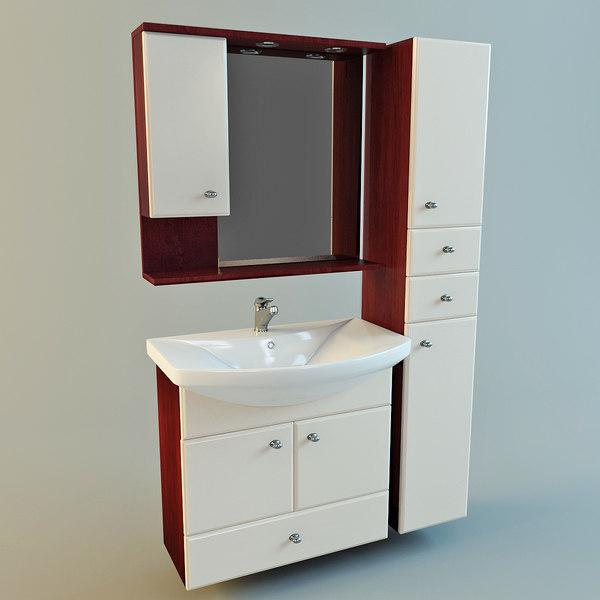S Set Bathroom Furniture Vanity