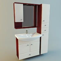 3ds set bathroom furniture vanity