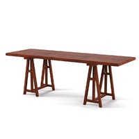 3d model bookfield trestile desk