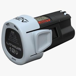 drill power battery 3d
