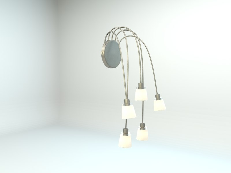 ikea kryssbo wall lamp 3d model