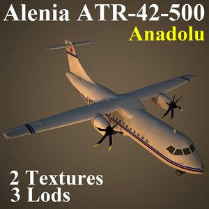 3d model alenia anadolu low-poly