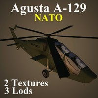 agusta nat attack helicopter 3d model