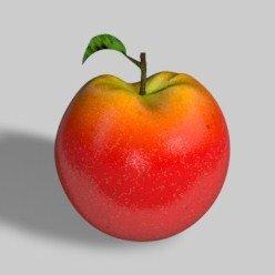 3d c4d apple realistic