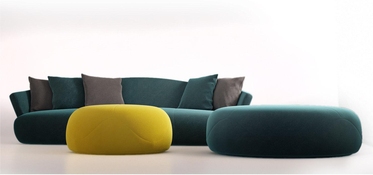 3d giorgetti solemyidae sofa model