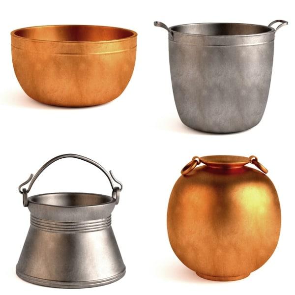 antique pots 3d model